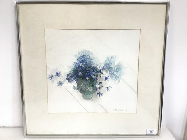 Patricia Sadler, Still Life with Flowers, watercolour and pencil, signed and dated '82 bottom