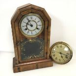 An early 20thc Jerome & Co., Newhaven Connecticut eight day no.254 mantel clock (46cm x 30cm x 12cm)