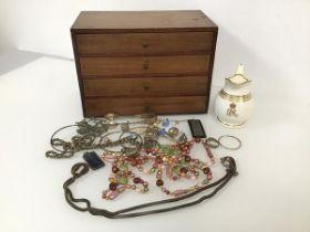 An assortment of jewellery including bangles, bar brooch, pendants, shell fragment necklace etc., an