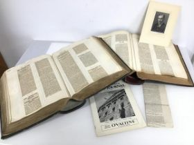 Two albums with newspaper clippings from the early 1920s primarily concerned with Politics and the