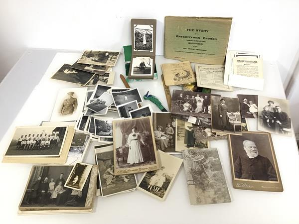 An assortment of 20thc photographs, including Family Portraits, Sports Team, Animals, Holiday