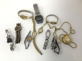 A collection of lady's wristwatches including Calvin Klein, Optima, Favre-Leuba, Corbert and a