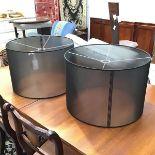 A pair of circular lampshades (34cm x d.50cm)