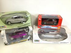 Revell diecast model cars, including a Auto Union Coupe, a Dodge Magnum, BMW, an Auto Union type