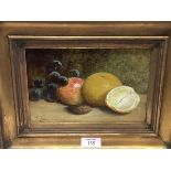 Mary Ensor (1837-1886), Still Life of Fruit with a Walnut, signed lower left, dated 1867, oil on