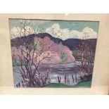 Dr. Frederick Porter (fl. early 20th century), On the Earn, oil on canvas, Aitken Dott exhibition