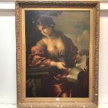 "After Giovanni Francesco Romanelli (1610-1662), A Sibyl - ""Ut Non Confundar"", 19th Century, oil on"