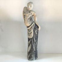Lorraine Fernie (b. 1941), Female Figure, unglazed, hand-built. Height 56cm. Provenance: acquired