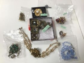 A collection of costume jewellery including those by Scaasi, Bijoux Heart, Weiss, Matisse (9)