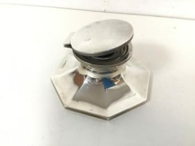 A 1930 Birmingham silver Capstan style inkwell, complete with glass liner (6cm x 12cm) (total: 338.