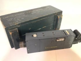 Military Aviation interest: a Williamson Aircraft Camera type G45, the wooden case stamped with ref.