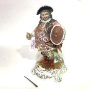 An unusually large Derby porcelain figure of James Quinn in the role of Falstaff, probably early