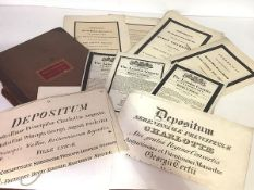 Royal Ephemera, a collection of rare early 19th century printed Ceremonial programmes for Royal