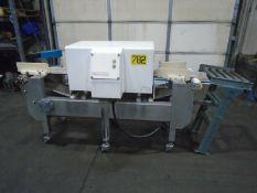 """Thermo Goring Kerr Metal Detector 10"""" x 8"""" Opening Conveyor W/ Kiwi Case Coder"""