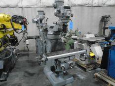 Bridgeport Mill 1 ½ HP Head, DRO, P/F & Variable Speed