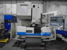 "Okuma CNC Mill MC-40VAType of control OSP 700Table Size 39"" x 20""X-Axis Travel 30""Y-Axis Travel 16."