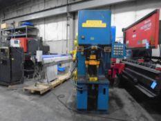 "Denison Model NA50C92JIC 50 Ton Hydraulic Multipress With Sliding Table 220/440V 3PH30"" Under The"