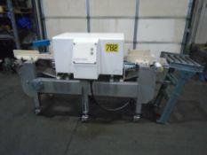 """Thermo Goring Kerr Metal Detector 10"""" x 8"""" Opening Conveyor W/ Kiwi 450 Case Coder"""
