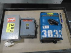 Electrical Disconnect Boxes Lot Of 3