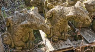Pair of Garden Ornaments - Dragons