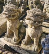 Pair of Garden Ornaments - Temple Dogs