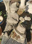 Three Garden Statues
