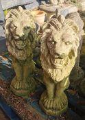 Pair Garden Ornaments - Lions