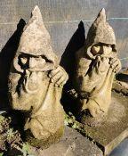 Two Garden Ornaments - Knight Watchmen