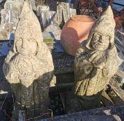 Pair Garden Ornaments - Knight Watchmen