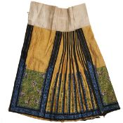 19th C. Chinese Silk Embroidered Skirt Dress
