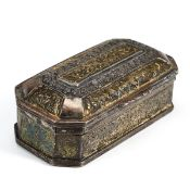 19th C. Indonesian Sumatra Silver Gilt Tobacco Box