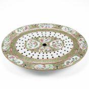 Rare 19th C. Chinese Rose Medallion Porcelain Mazzarene & Platter