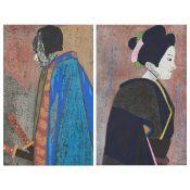Grp: 2 Saito Doll Festival Series Woodblock Prints