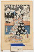 Kunisada Shirabyoshi Hanako Woodblock Print