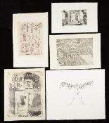 Grp: 5 Prints Laurie Bolton Leonard Baskin