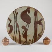 Grp: Warren Mackenzie Platter & 2 Jars