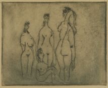 Style of Pablo Picasso Female Nudes Etching