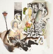 "Attila Richard Lukacs ""It's not the money...it's the principle"" Collage"