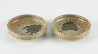 Pair of Warren MacKenzie Studio Ceramic Shallow Bowls - Marked