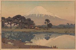 """Hiroshi Yoshida """"Suzukawa"""" Woodblock Print - Pencil Signed"""