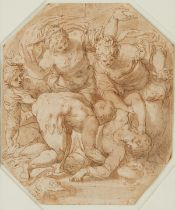 Old Master Pen and Ink Drawing Northern Italian