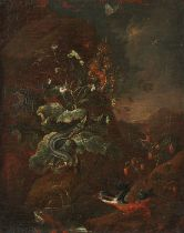 Illegibly Signed Old Master Oil on Canvas