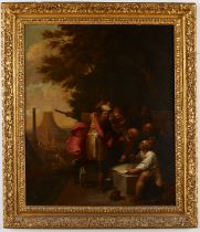After Frans Francken II Nimrod and the Tower of Babel Oil on Copper Painting