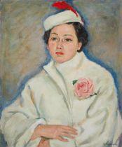 Hasegawa Portrait of Woman in White Coat