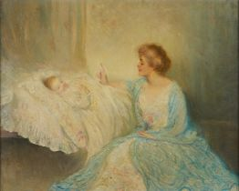 Walter Page Mother and Child Painting