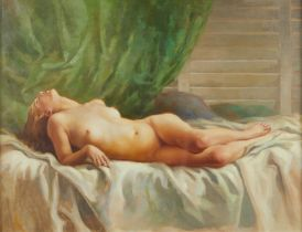 Charles Rubino Supine Nude on Bed