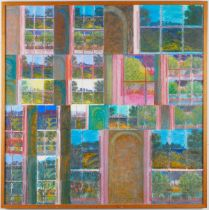 "Adrian Berg ""3 Gloucester Gate"" Oil on Canvas"
