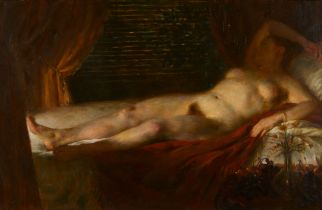 "John Koch ""Woman Asleep"" Double Sided Painting"