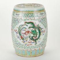 Chinese Guangxu Porcelain Garden Barrel