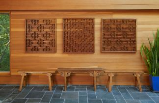 Set of 3 Large Chinese 19th c. Architectural Screens